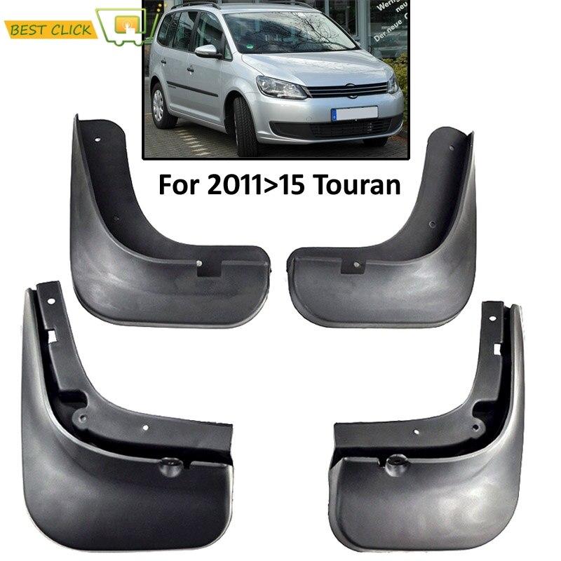 Set Molded Car Mud Flaps For Volkswagen VW Touran 2011 2012 2013 2014 2015 Mudflaps Splash Guards Mud Flap Mudguards Accessories